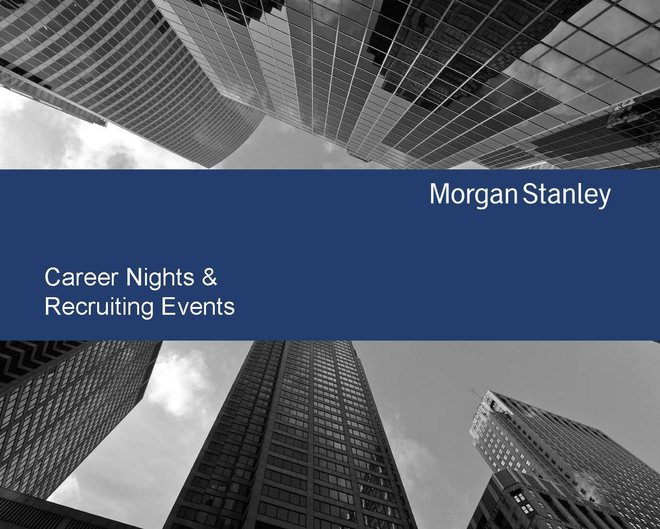 Morgan Stanley Career Presentation at CEU | Alumni Relations Office